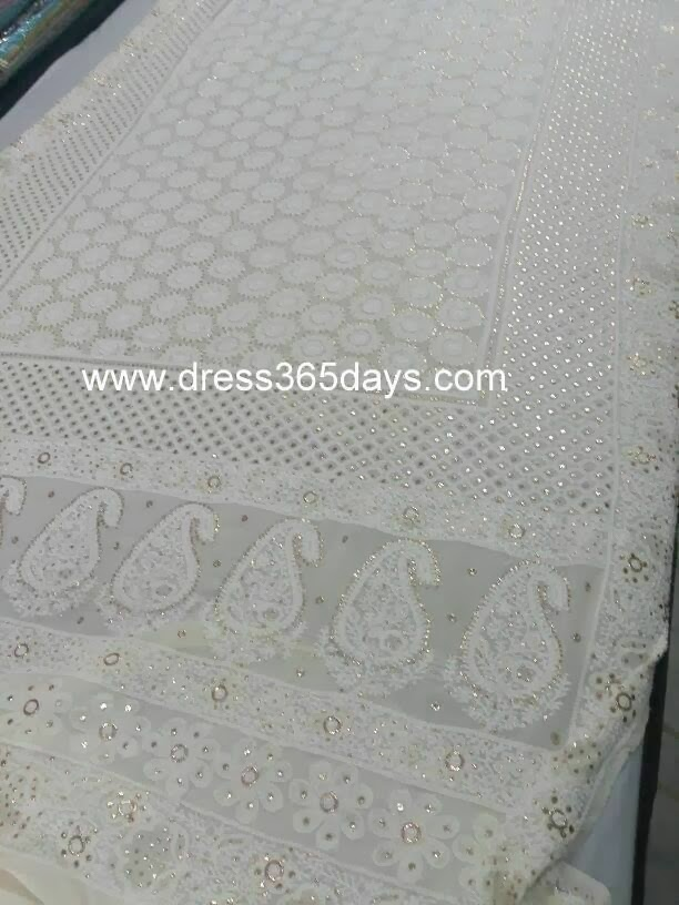 Dupatta with Heavy Chikankari Embroidery