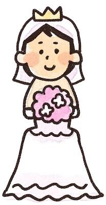 新婦のイラスト(結婚式)
