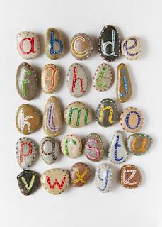 Reciclatex Hacer un abecedario con piedras