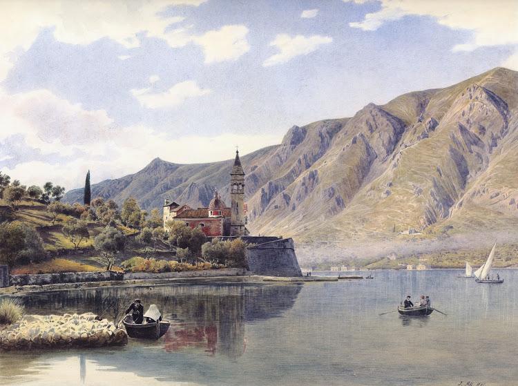 Rudolf von Alt - Ansicht von Dobrota gegen Mula bei Cattaro 1841