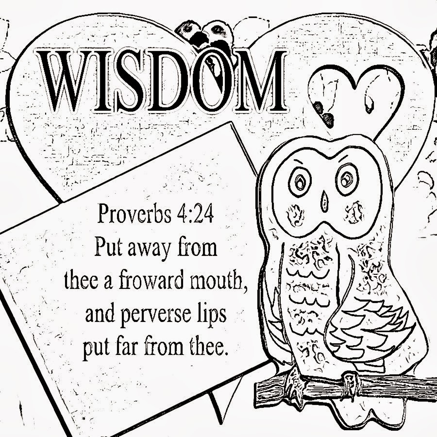 kids coloring pages on wisdom - photo#9