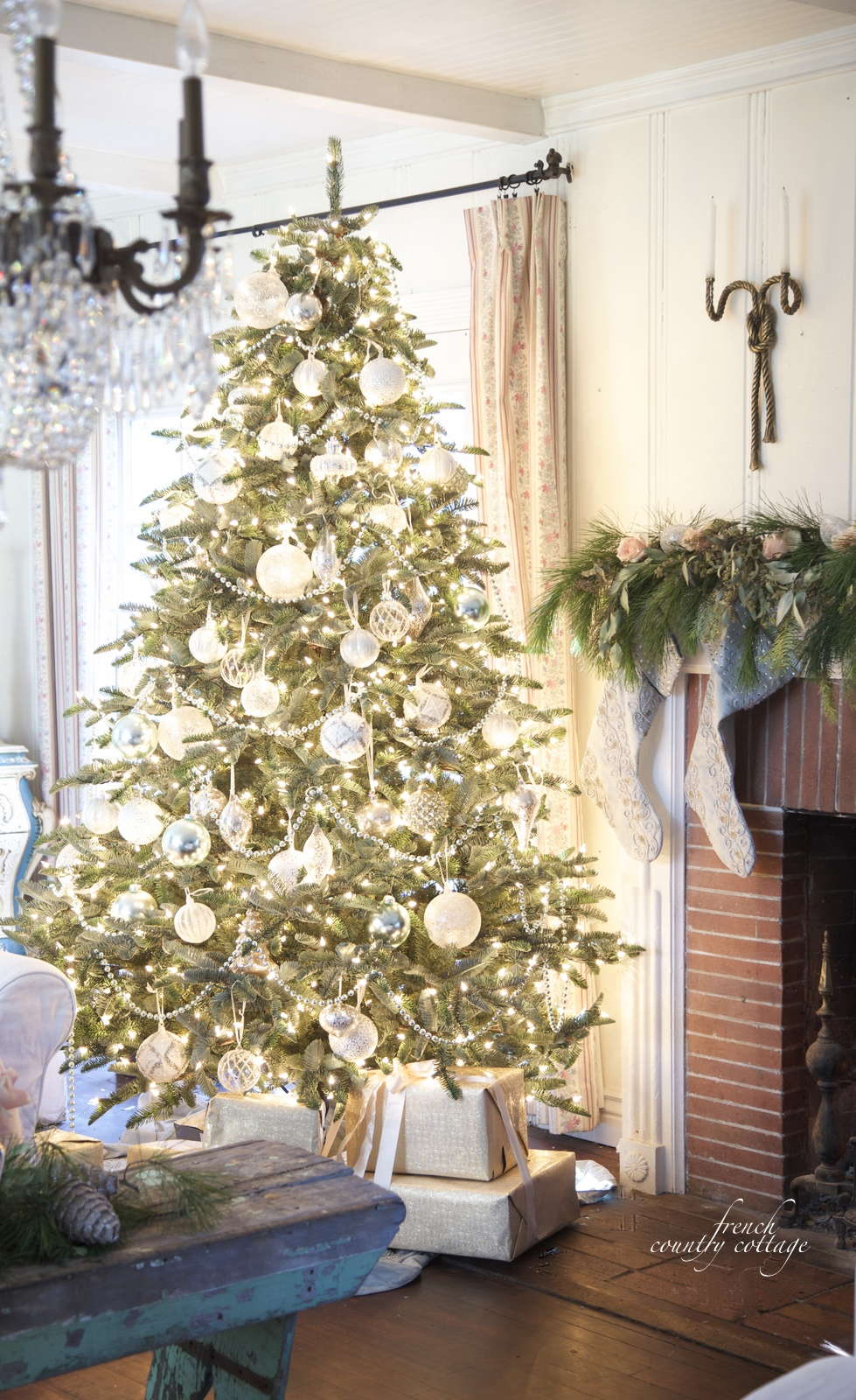 Christmas Homes french country cottage christmas home tour - french country cottage