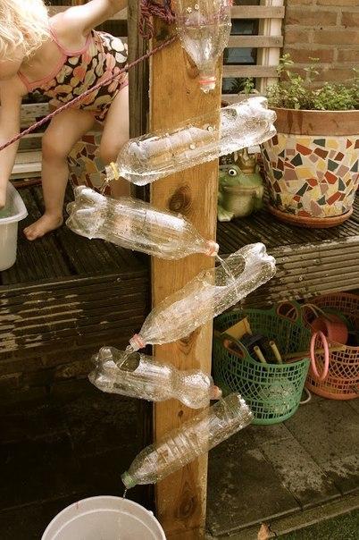 Plastic Water Bottle Wall