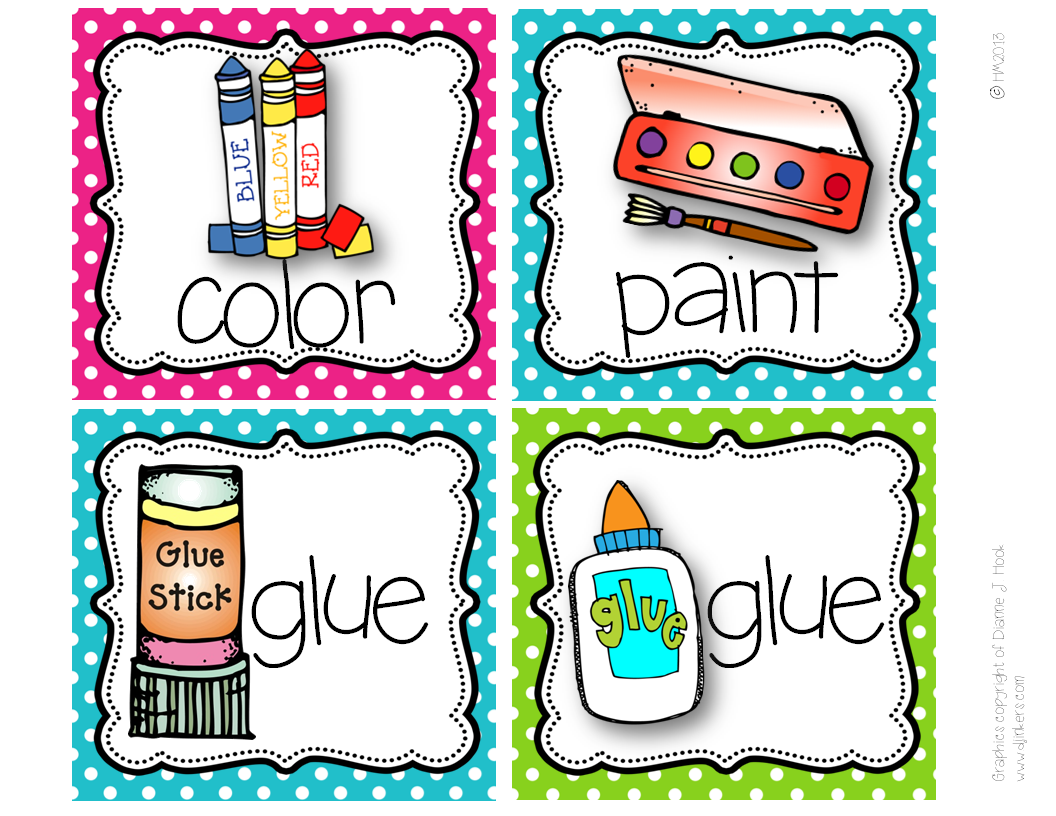 http://www.teacherspayteachers.com/Product/Picture-Direction-Icons-bright-polka-dots-chevron-print-738701