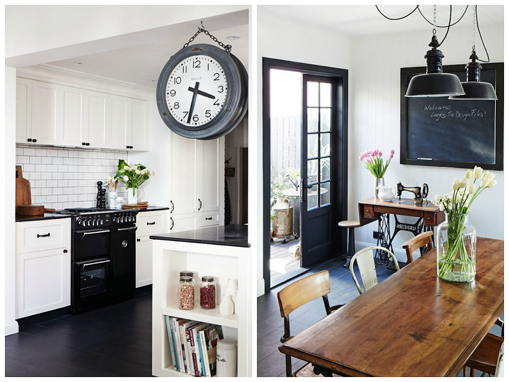 Milo and mitzy dream kitchen for Black industrial kitchen