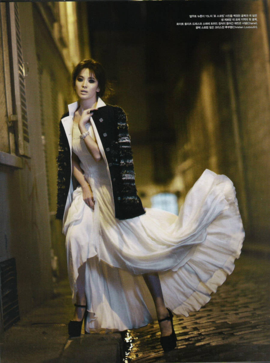 Edge Of The Plank Song Hye Kyo In Vogue Korea Dec 2011