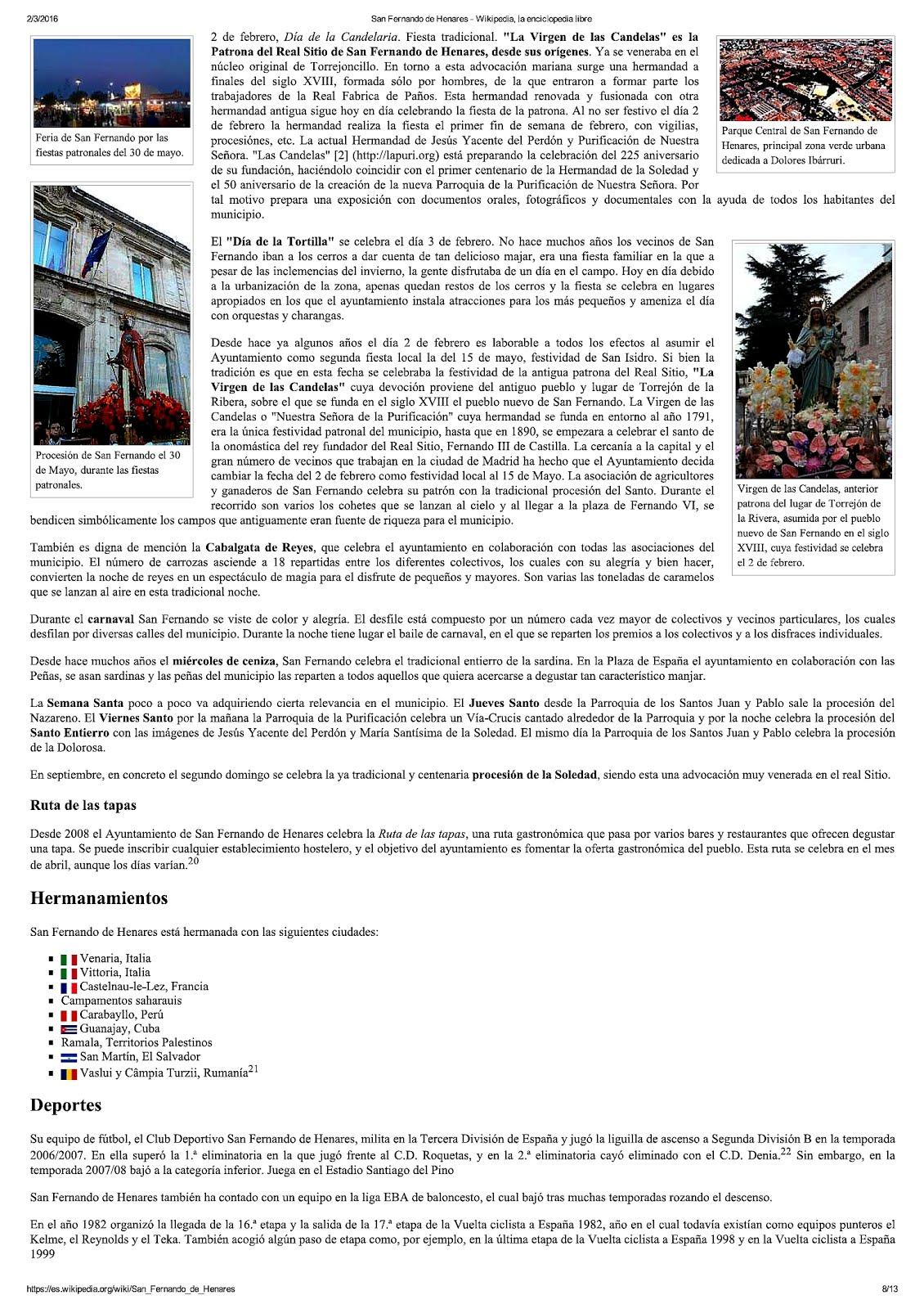 San Fernando en Wikipedia 2016.8