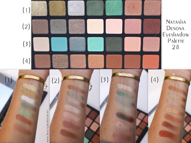 natasha denona eyeshadow palette 28 swatches