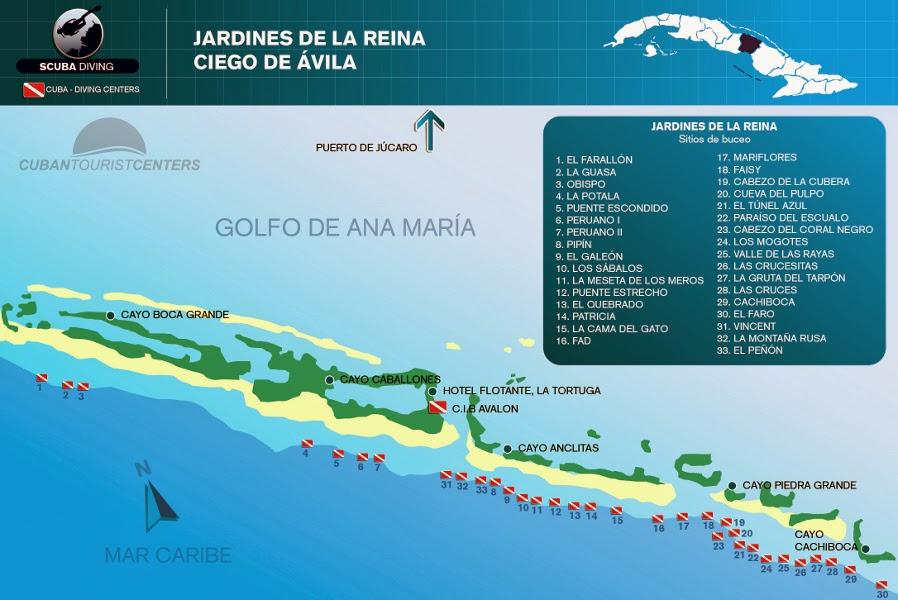 Verdad cubana turismo de pesca en ciego de vila cuba for Como llegar a jardines de la reina cuba