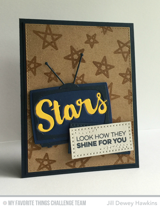 Television Stars Card by Jill Dewey Hawkins featuring the Laina Lamb Designs Count the Stars stamp set and Die-namics and Television Die-namics #mftstamps