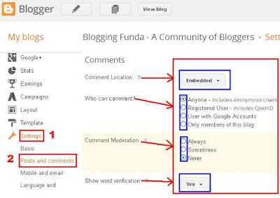 How to Enable or Disable Blog Comments by BloggingFunda