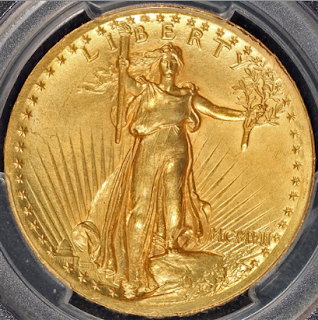 1907 $20 High Relief Wire Rim PCGS & CAC MS64
