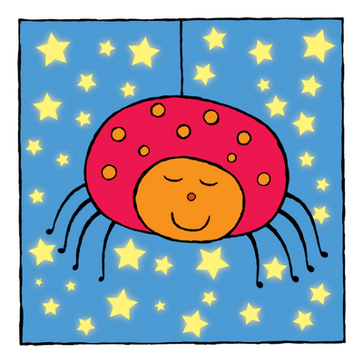 picture of sleepy spider from Sleepy Animals kindle children's picture book
