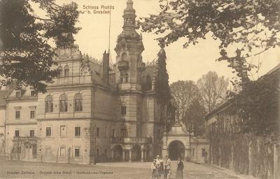 Schloss Prohlis, Dresden, um 1919, Verlag Johannes Leonhardt, Privatbesitz