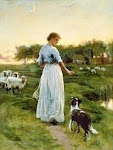Shepherdess protecting her sheep