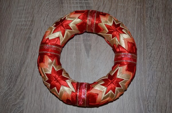 styrofoam ribbon wreath
