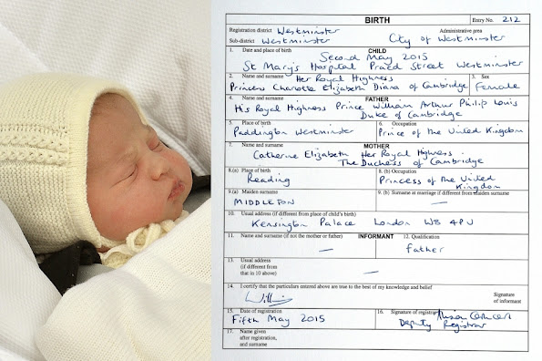 Prince William and his wife Kate Middleton have named their three-day-old baby Charlotte Elizabeth Diana and will be known as Princess Charlotte of Cambridge