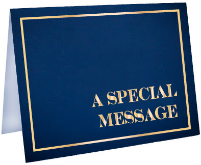 a simple card that contains a very special message for him