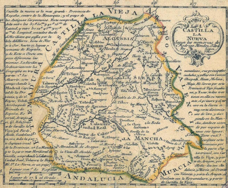 Mapa Castilla la Nueva de Tomás López