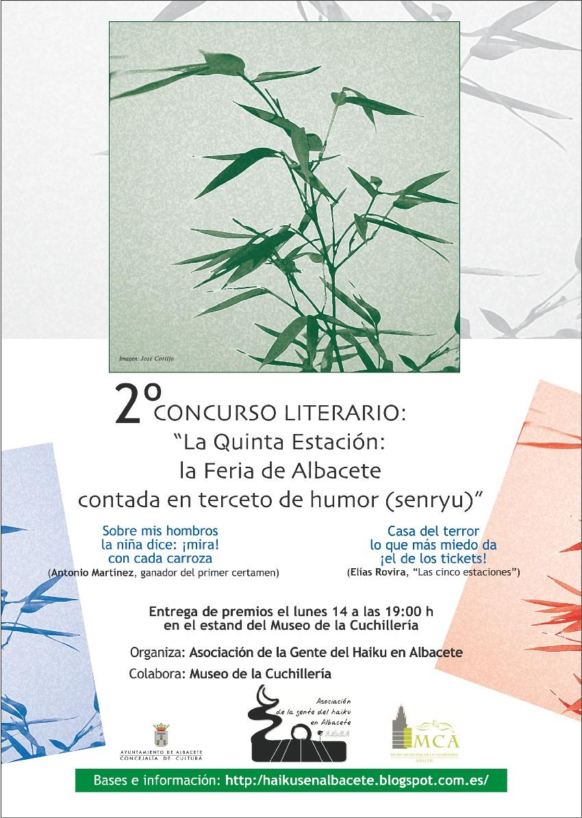 """2º Concurso de Senryu de Feria 2015 """"La quinta estación"""""""