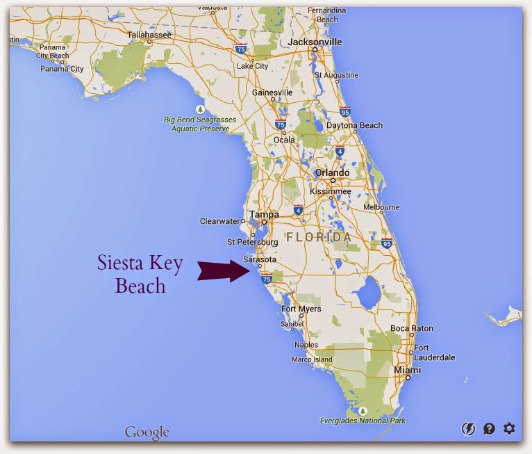Siesta Key Florida Martinis Bikinis - Florida map with cities and beaches