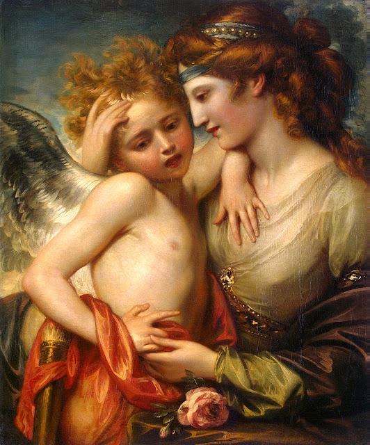 Venus consolando a Cupido picado por una abeja de West