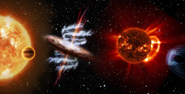 Exoplanets, plasma physics and the X-ray Universe are the topics chosen by ESA to be considered for the fourth medium-class mission slot, for launch in 2025. Credit: ATG medialab