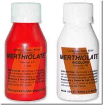 Merthiolate antigo que causava ardor ao usar.