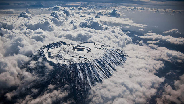 Mount Kilimanjaro Aerial From Above