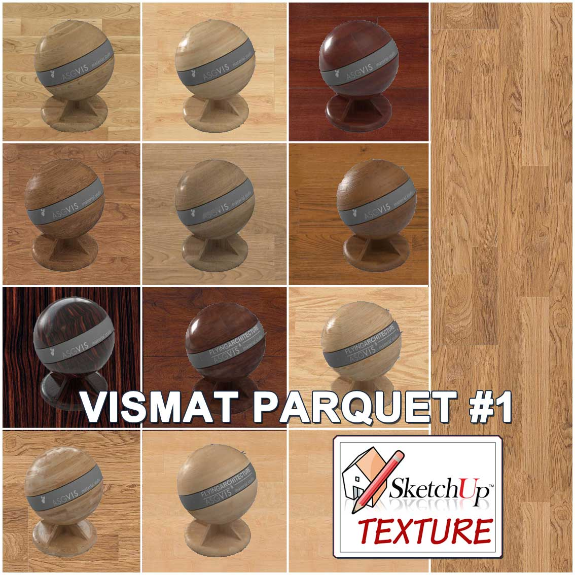 how to use vismat materials in sketchup