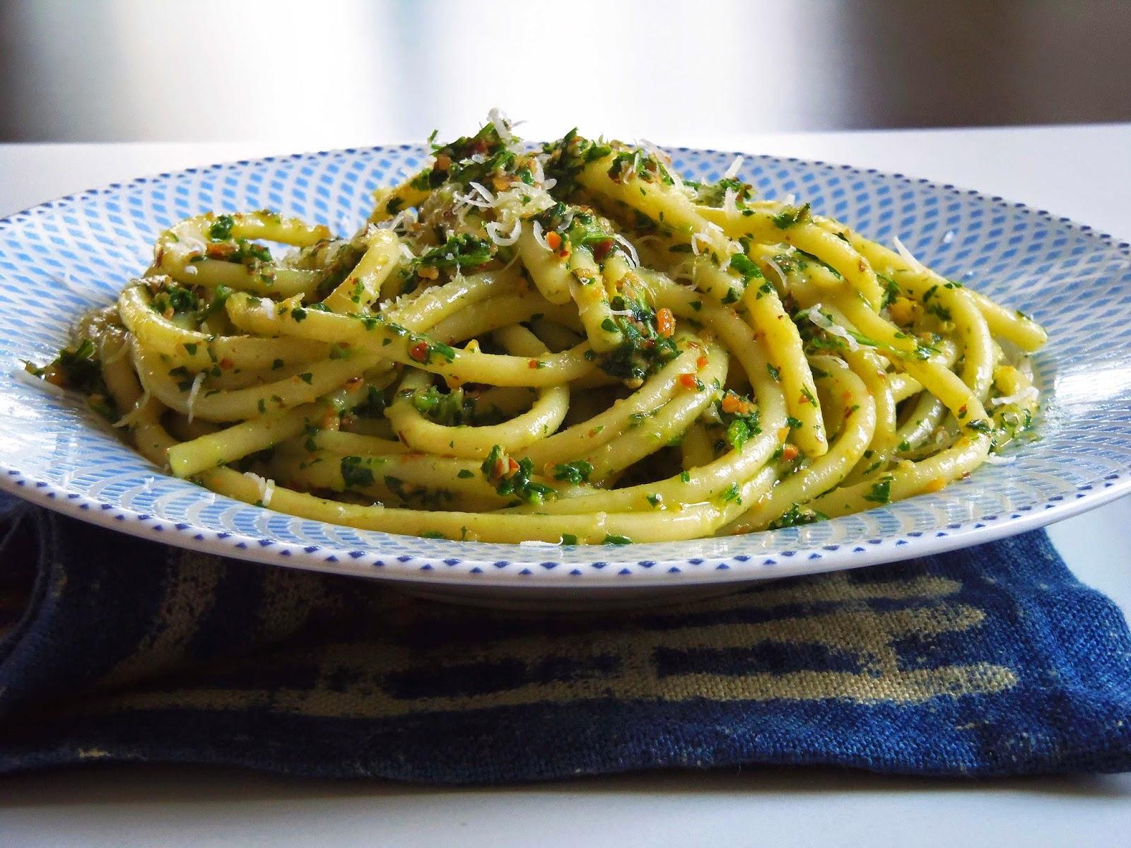 ... parsley pesto spaghetti with parsley pesto and sausage 5 ingredient