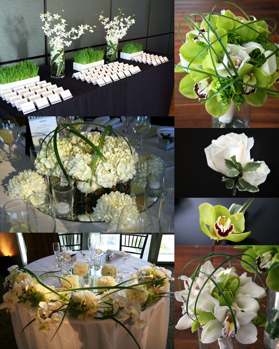 prepare wedding dresses modern flower arrangements