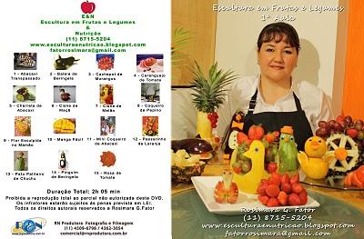 DVD 1 - Curso de Escultura em Frutas - Bichinhos & Frutas