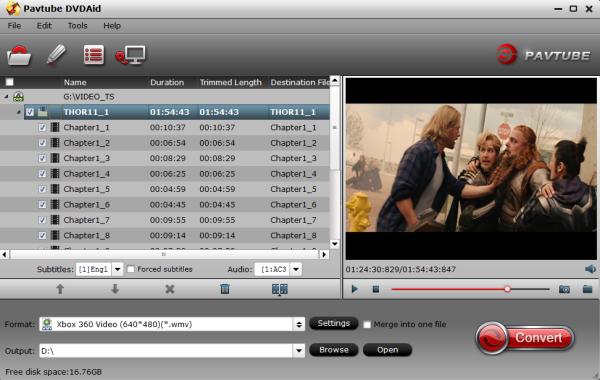 convert dvd to xbox 360