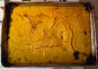 A pan of Mayan-inspired corn pone. Photo by Hannah Miller.
