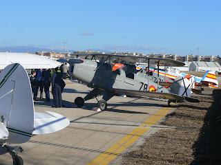 Els avions de l'FPAC en exposició que van dur a terme l'exhibició en vol.