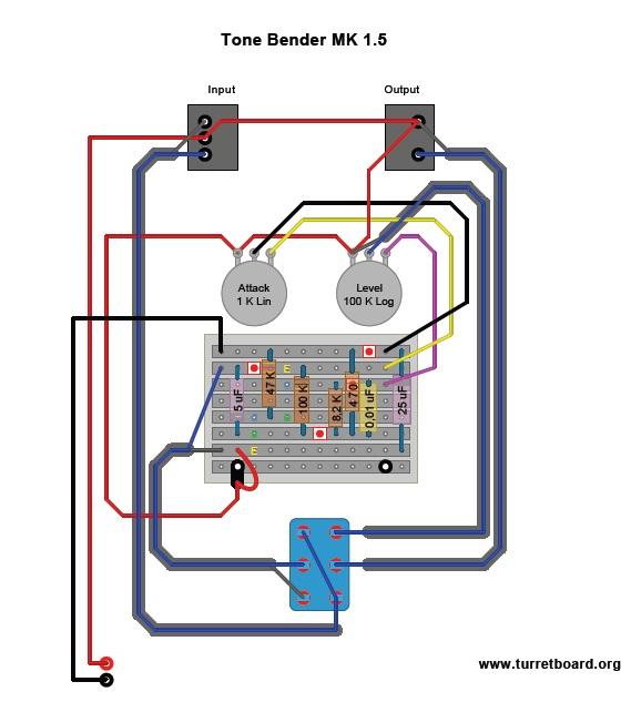 Sola Sound - Tone Bender MK1.5 | La Révolution Deux on pro co rat, ibanez tube screamer, boss ds-1 schematic, ross compressor schematic, overdrive schematic, guitar pedalboard, marshall shredmaster, fuzz schematic, univox super-fuzz, phaser schematic, guitar schematic, shin-ei companion fy-2,