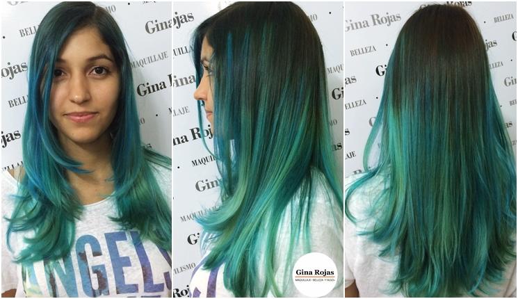 Azul para el cabello
