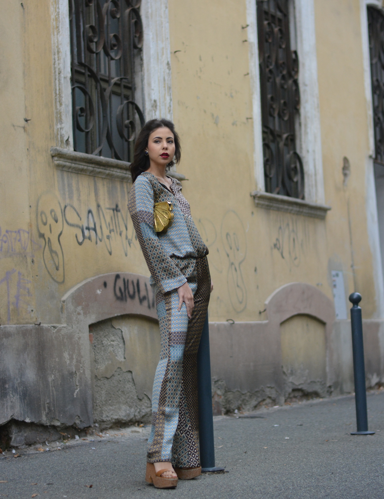 Juliane Borges, ootd, compagnia italiana, kate, '70s, fashion, jumpsuit, fashion magazine, outfit, culture and trend, streetstyle,