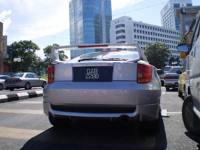 Silver color Toyota Celica