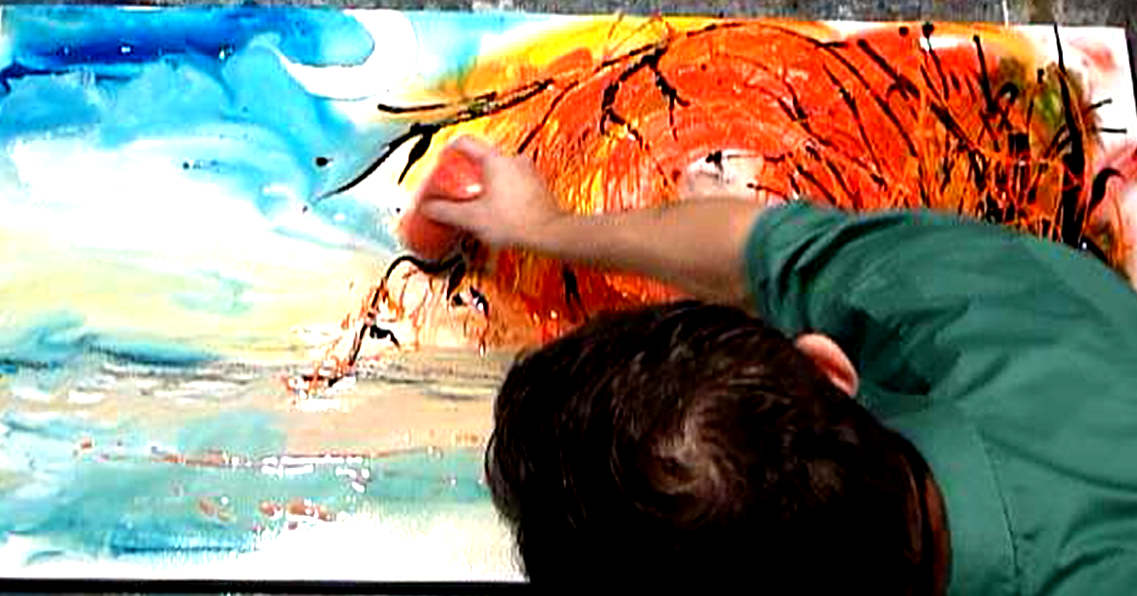 Abstract art modern painting techniques by peter dranitsin for Acrylic painting on paper tips