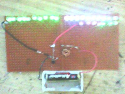 Joule Thief Project Berlanjut Pasang 27 LED