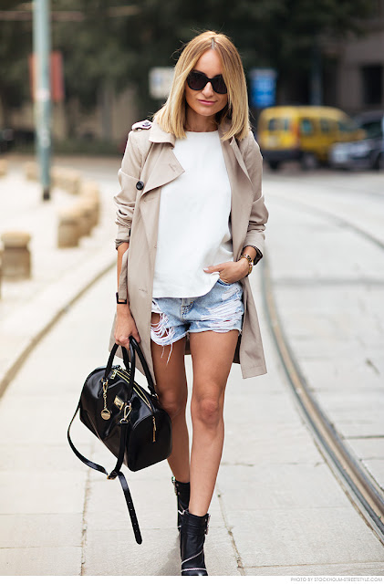 Ripped jeans cortos street style 2015