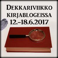 Dekkariviikko kirjablogeissa 12.-18.6.2017