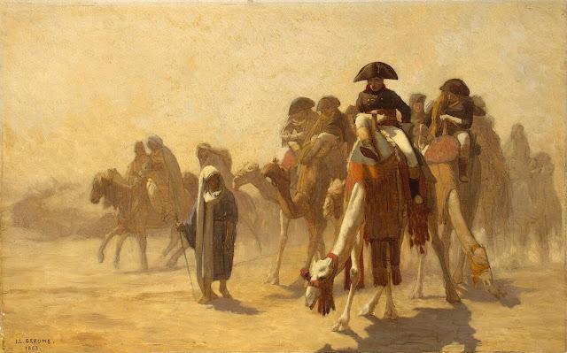 Napoleón y sus generales en Egipto - Gérôme, conferencia en Valdebernardo 11 04 2013