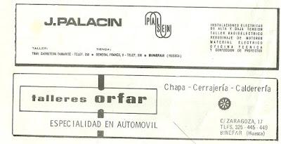 Publicidad palacin Binefar