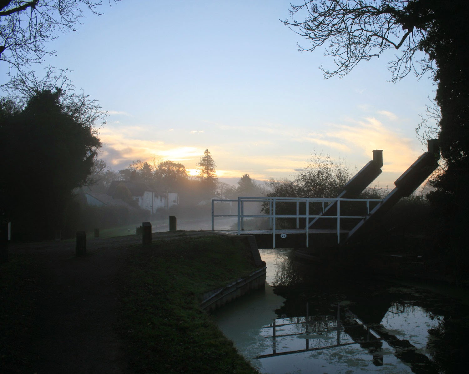 Drawbridge and dawn