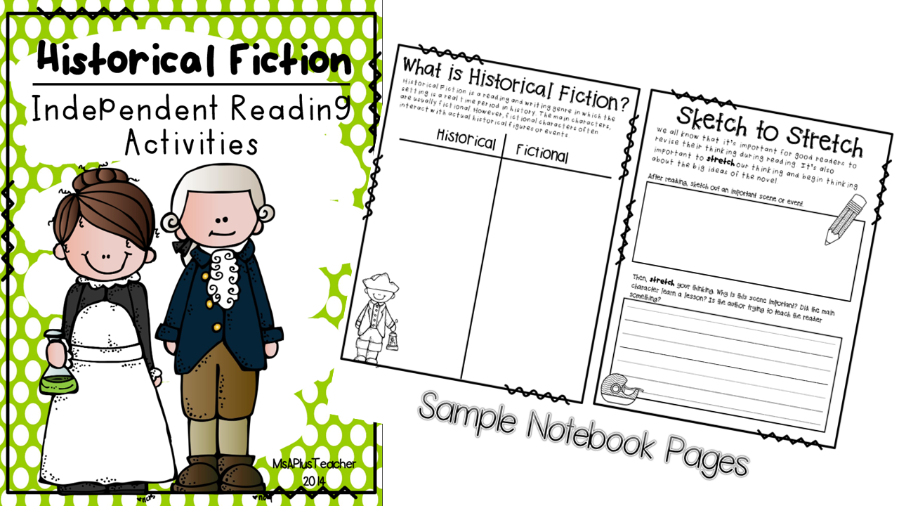 http://www.teacherspayteachers.com/Product/Historical-Fiction-Independent-Reading-Activities-1357094