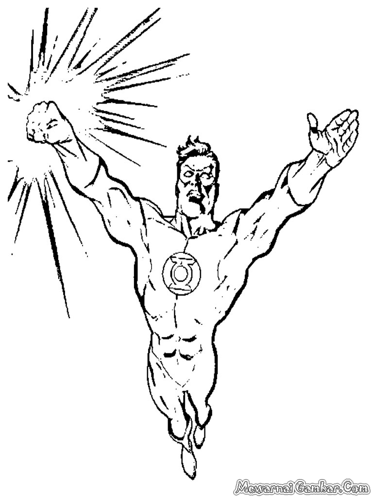Lembar Mewarnai Green Lantern Agar Anak Anda Bisa Gambar