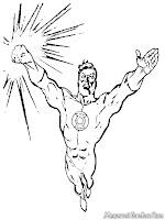 Gambar Green Lantern Terbang Untuk Diwarnai